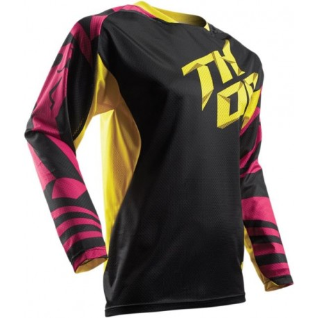 Detský dres Thor Fuse Air S7Y Pink / Yellow